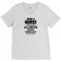 being a nurse copy V-Neck Tee | Artistshot