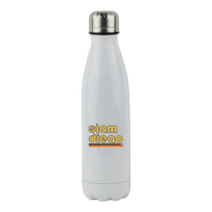Slam Diego Merch Stainless Steel Water Bottle Designed By Gilaban