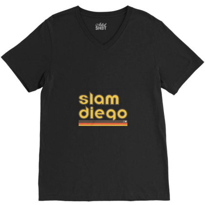 Slam Diego Merch V-neck Tee Designed By Gilaban