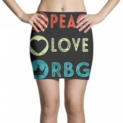 notorious rbg ruth bader ginsburg peace love Mini Skirts | Artistshot