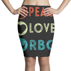 notorious rbg ruth bader ginsburg peace love Pencil Skirts | Artistshot