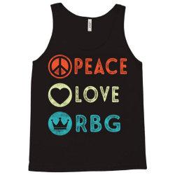 notorious rbg ruth bader ginsburg peace love Tank Top | Artistshot