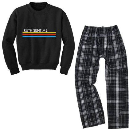 Ruth Sent Me Youth Sweatshirt Pajama Set Designed By Kakashop