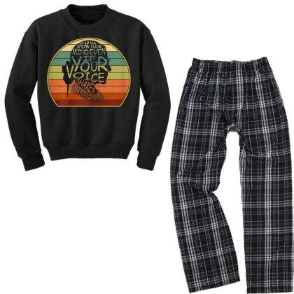 Speak Your Mind Even If Your Voice Shakes Rbg Youth Sweatshirt Pajama Set Designed By Kakashop