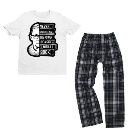 I Dissent Tee Queen Tee Never Underestimate Girl With Youth T-shirt Pajama Set Designed By Tht