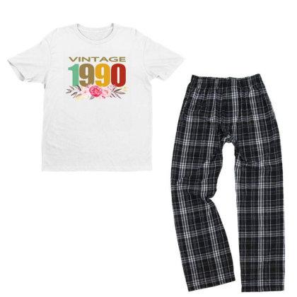 Vintage 1990 Youth T-shirt Pajama Set Designed By Alparslan Acar