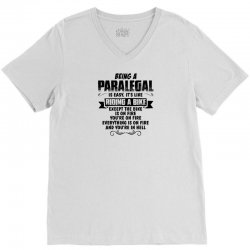being a paralegal copy V-Neck Tee | Artistshot