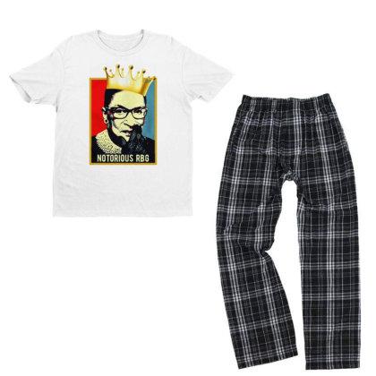 Notorious Ruth Bader Ginsburg Rbg Youth T-shirt Pajama Set Designed By Tht