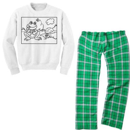 Funny Frog Youth Sweatshirt Pajama Set Designed By Chiks