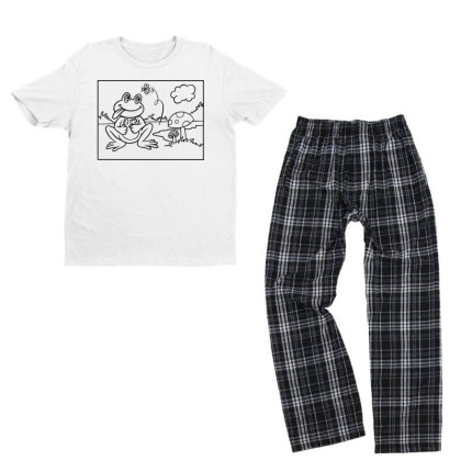 Funny Frog Youth T-shirt Pajama Set Designed By Chiks