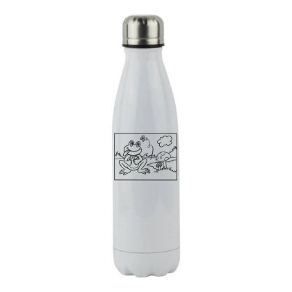 Funny Frog Stainless Steel Water Bottle Designed By Chiks