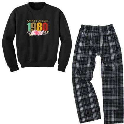 Vintage 1980 Youth Sweatshirt Pajama Set Designed By Alparslan Acar