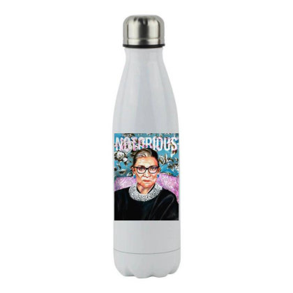 Notorious Rbg  Bader Ginsburg Stainless Steel Water Bottle Designed By Tht