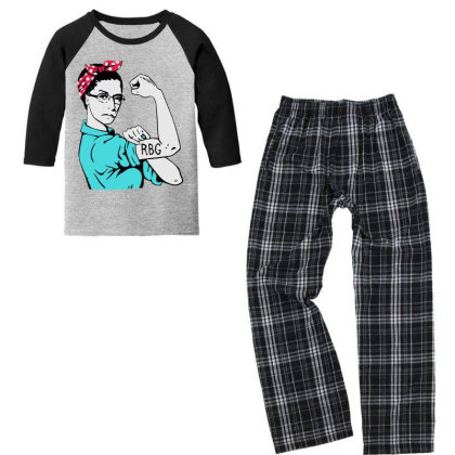 Notorious Rbg Unbreakable Youth 3/4 Sleeve Pajama Set Designed By Tht