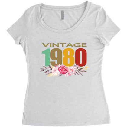 Vintage 1980 Women's Triblend Scoop T-shirt Designed By Alparslan Acar