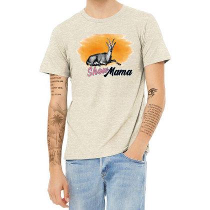 Show Mama Goat Heather T-shirt Designed By Alparslan Acar