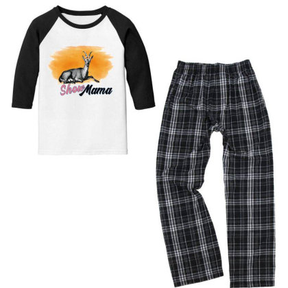 Show Mama Goat Youth 3/4 Sleeve Pajama Set Designed By Alparslan Acar