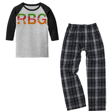 Notorious Rbg Dissent Anti Trump Youth 3/4 Sleeve Pajama Set Designed By Tht