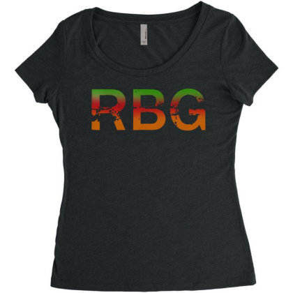 Notorious Rbg Dissent Anti Trump Women's Triblend Scoop T-shirt Designed By Tht