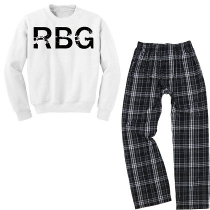 Rbg Dissent Anti Trump Youth Sweatshirt Pajama Set Designed By Tht