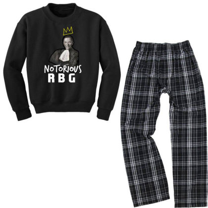 Notorious Rbg Ruth Bader Ginsburg  Court Justice Youth Sweatshirt Pajama Set Designed By Tht