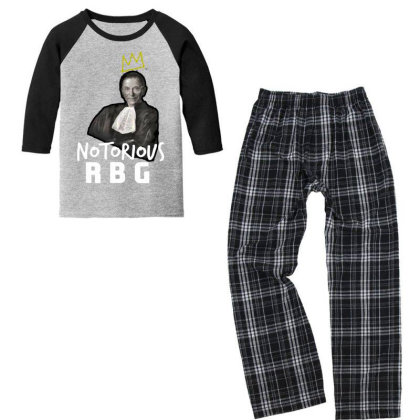 Notorious Rbg Ruth Bader Ginsburg  Court Justice Youth 3/4 Sleeve Pajama Set Designed By Tht