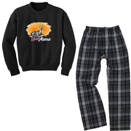 Show Mama Goat Youth Sweatshirt Pajama Set Designed By Alparslan Acar