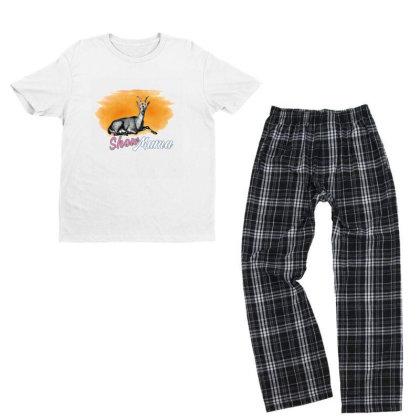 Show Mama Goat Youth T-shirt Pajama Set Designed By Alparslan Acar