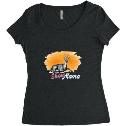 Show Mama Goat Women's Triblend Scoop T-shirt Designed By Alparslan Acar