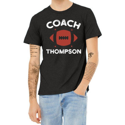 Thompson Rugby Coach - Political Gift Idea Heather T-shirt Designed By Diogo Calheiros