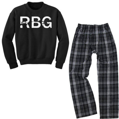 Notorious Rbg Youth Sweatshirt Pajama Set Designed By Tht