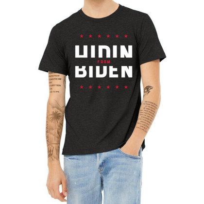 Hiding From Biden - Political Gift Idea Heather T-shirt Designed By Diogo Calheiros