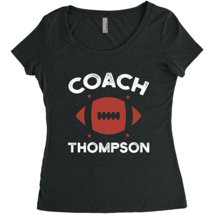 Thompson Rugby Coach - Political Gift Idea Women's Triblend Scoop T-shirt Designed By Diogo Calheiros