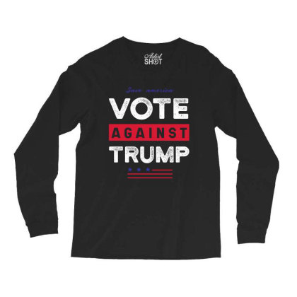 Against Trump Save America - Political Gift Idea Long Sleeve Shirts Designed By Diogo Calheiros