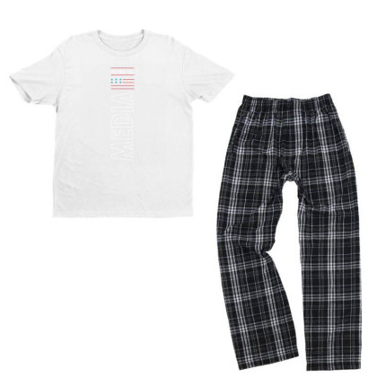 Defund The Media - Political Gift Idea Youth T-shirt Pajama Set Designed By Diogo Calheiros