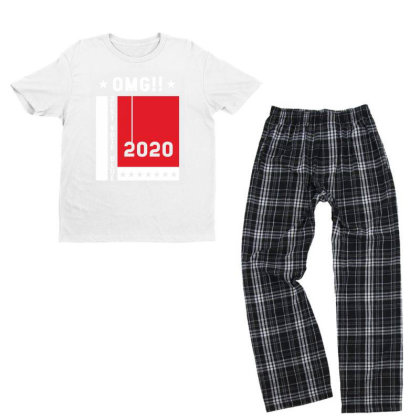Just Vote Blue - Political Gift Idea Youth T-shirt Pajama Set Designed By Diogo Calheiros
