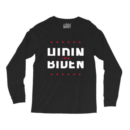 Hiding From Biden - Political Gift Idea Long Sleeve Shirts Designed By Diogo Calheiros