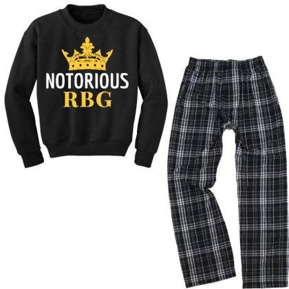 Notorious Rbg Ruth Bader Ginsburg Political Feminist Youth Sweatshirt Pajama Set Designed By Tht