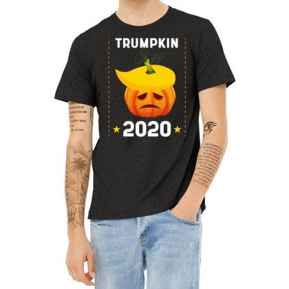 Trumpkin 2020 - Political Gift Idea Heather T-shirt Designed By Diogo Calheiros