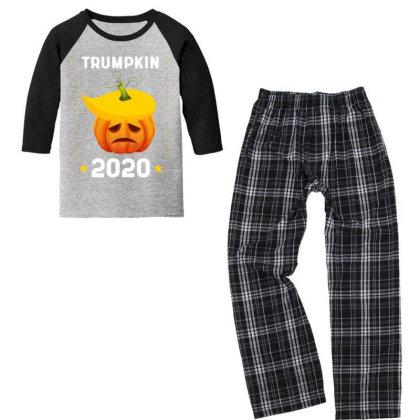 Trumpkin 2020 - Political Gift Idea Youth 3/4 Sleeve Pajama Set Designed By Diogo Calheiros