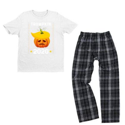 Trumpkin 2020 - Political Gift Idea Youth T-shirt Pajama Set Designed By Diogo Calheiros