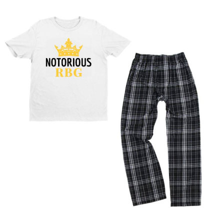 Notorious Rbg Ruth Bader Ginsburg Political Feminist Youth T-shirt Pajama Set Designed By Tht