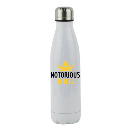 Notorious Rbg Ruth Bader Ginsburg Political Feminist Stainless Steel Water Bottle Designed By Tht
