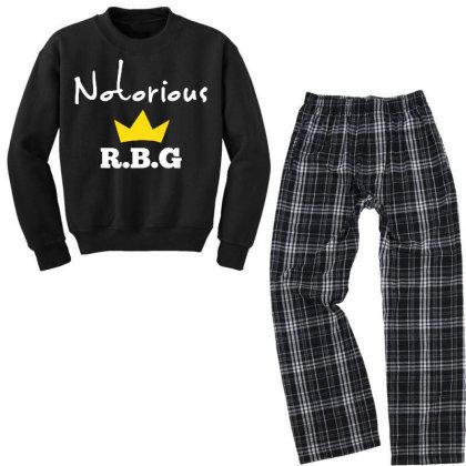 Ruth Bader Ginsburg Feminist Youth Sweatshirt Pajama Set Designed By Tht