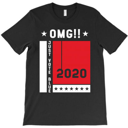 Just Vote Blue - Political Gift Idea T-shirt Designed By Diogo Calheiros