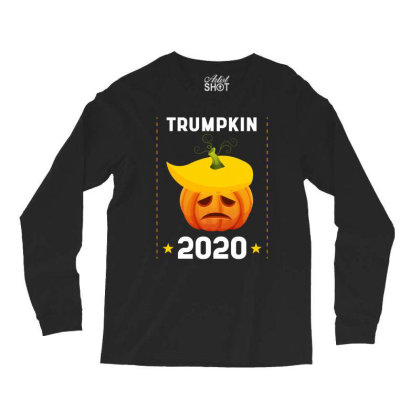 Trumpkin 2020 - Political Gift Idea Long Sleeve Shirts Designed By Diogo Calheiros