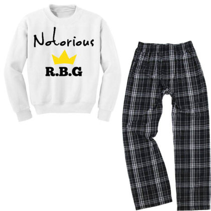 Notorious Rbg Ruth Bader Ginsburg Feminist Youth Sweatshirt Pajama Set Designed By Tht