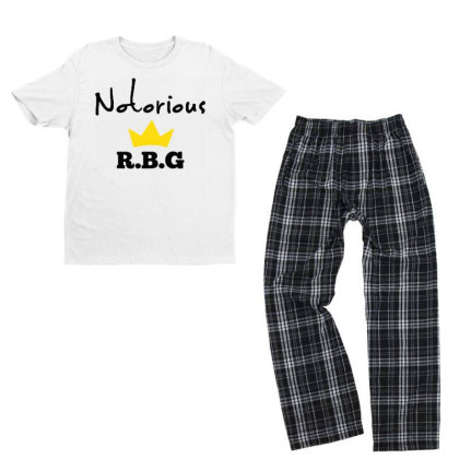 Notorious Rbg Ruth Bader Ginsburg Feminist Youth T-shirt Pajama Set Designed By Tht