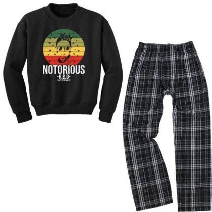 Notorious Rbg Ruth Bader Ginsburg Youth Sweatshirt Pajama Set Designed By Tht