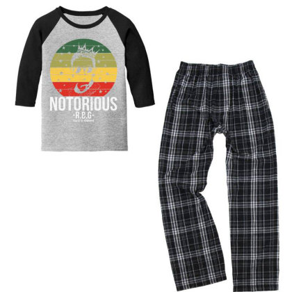 Notorious Rbg Ruth Bader Ginsburg Youth 3/4 Sleeve Pajama Set Designed By Tht